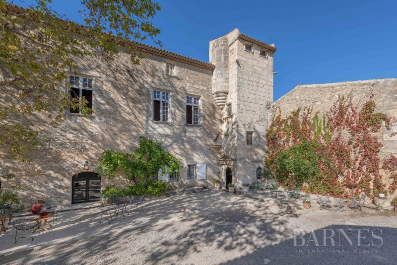 Quiet and vast 207 acres Provençal wine estate with more than 118 acres of vineyards including a remarkable fully renovated 12th century castle of 13475 sq ft